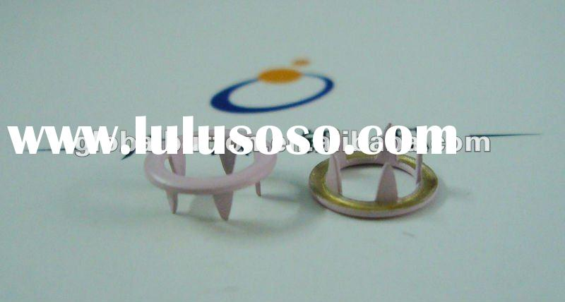 OEKO paint metal brass ring prong snap fastener