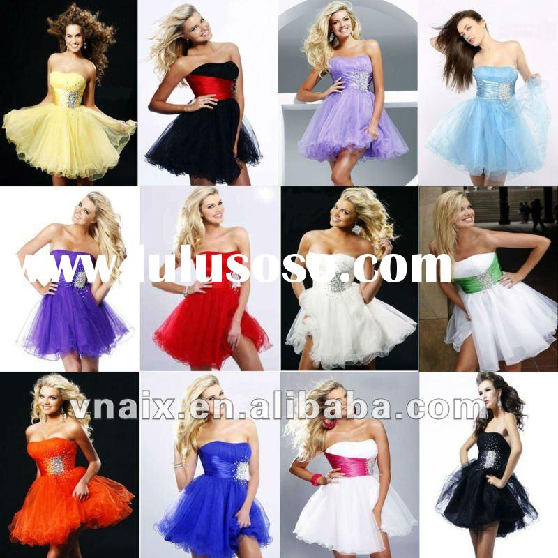 ST001 2012 In Stock Cheap Sequin Fast delivery Prom Dresses Short