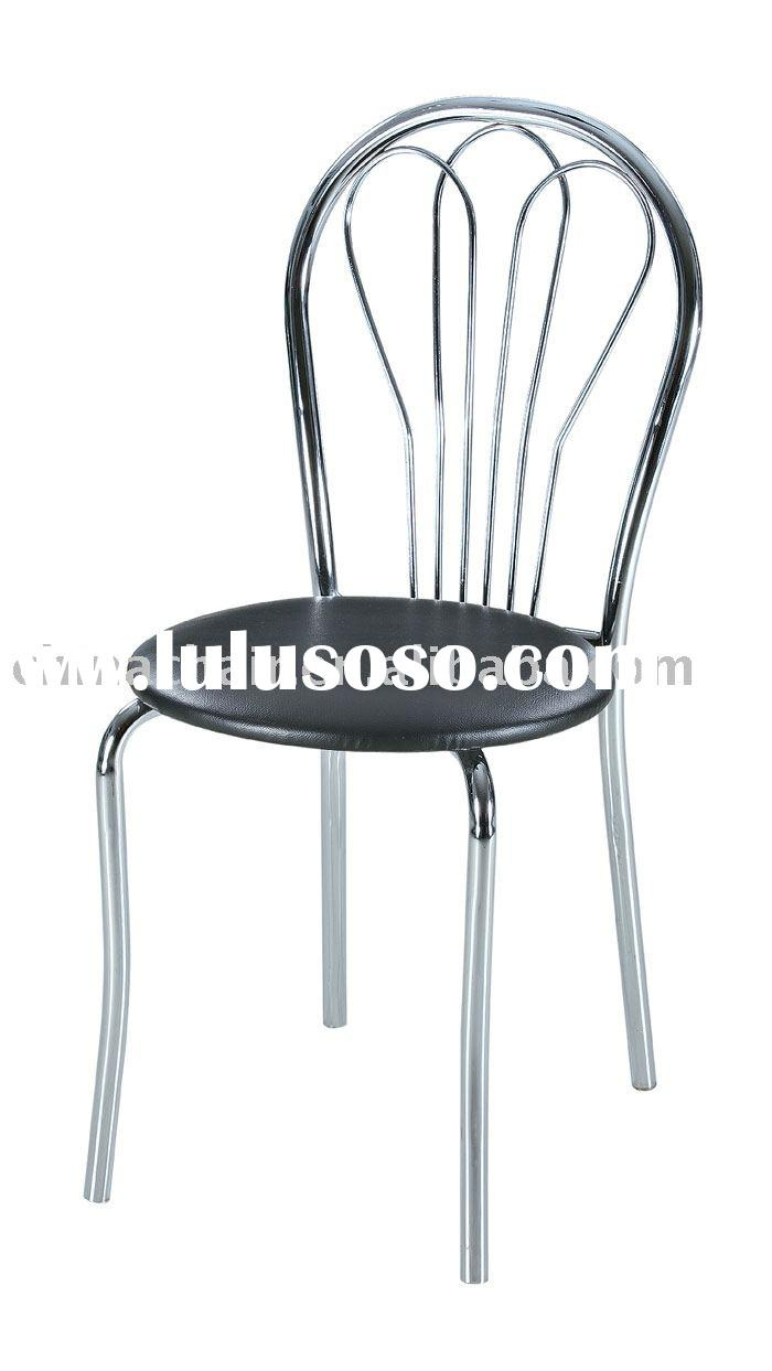 Stackable metal and leather restaurant furniture bar table chairs