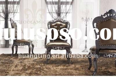 chair, leather dining chair,solid wood luxury dining chair
