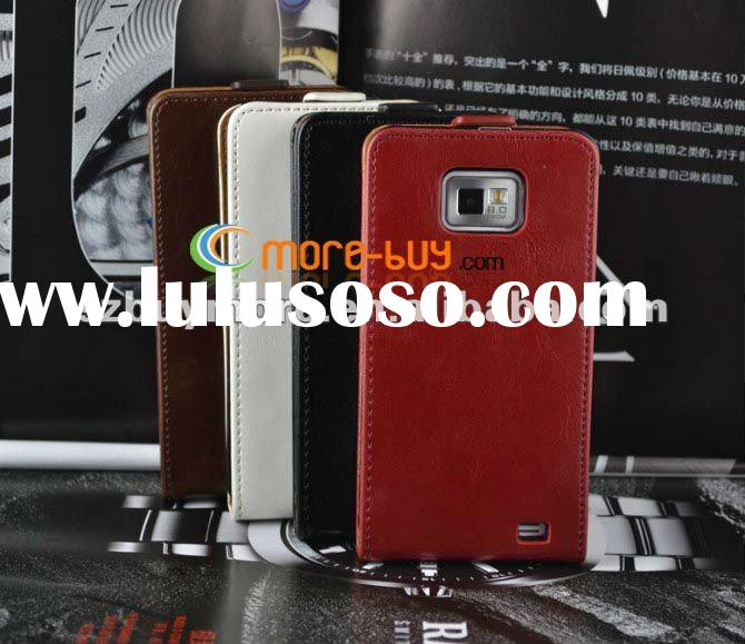 fashion top quality korea style crazy horse leather pouch case for samsung galaxy s2 SII i9100