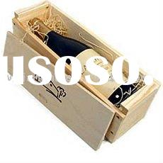 high quality unfinished engrave wine wood box