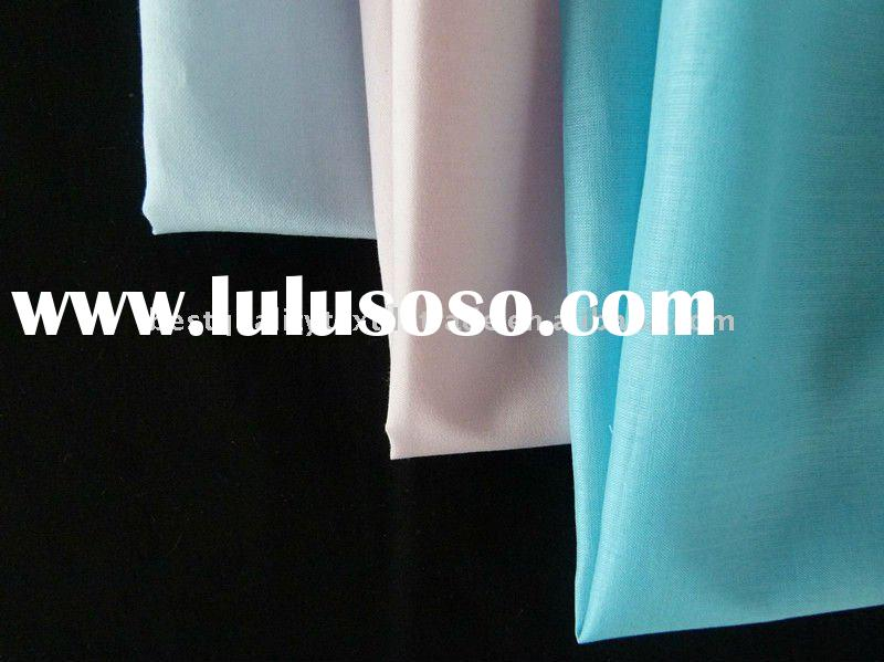 plain dyed cotton polyester fabric