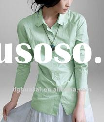 plus size long sleeve casual shirts women tops and blouses HK-032007