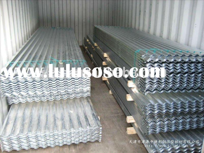 profiled zinc coated corrugated steel roofing sheet/gi roofing/full hardness roofing