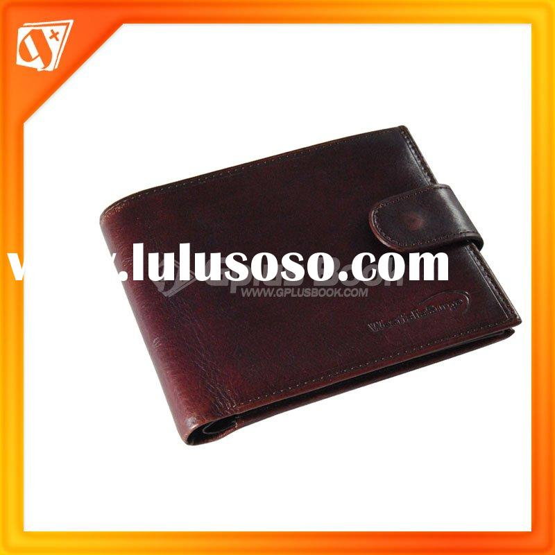 red brown genuine leather X10 wallet