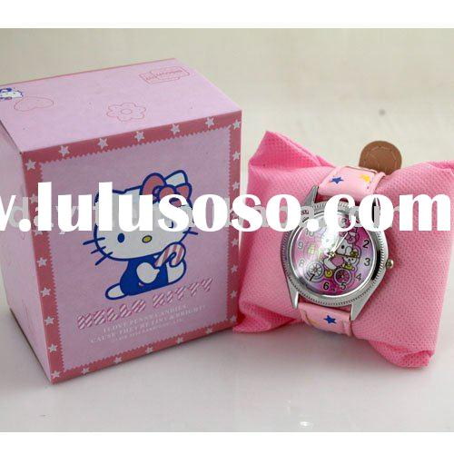 wholesale christmas gift hello kitty watch for kid children watch mix order c0018