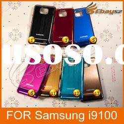 2011 New arrival Cross-Line Metal Back Case Sticker For Samsung i9100 &LF-0377