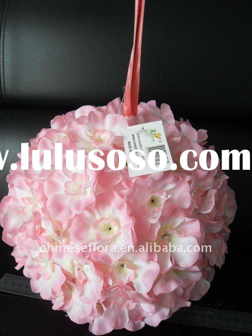 25cm pink flower ball, wedding decoration ball, party decoration ball