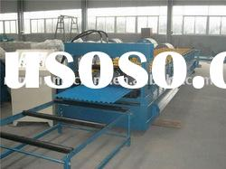 850 corrugated metal color steel roofing sheet profile cold roll forming machine for GI or PPGI