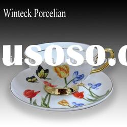 Chinese Style Bone China Tea Cup and Saucer Set
