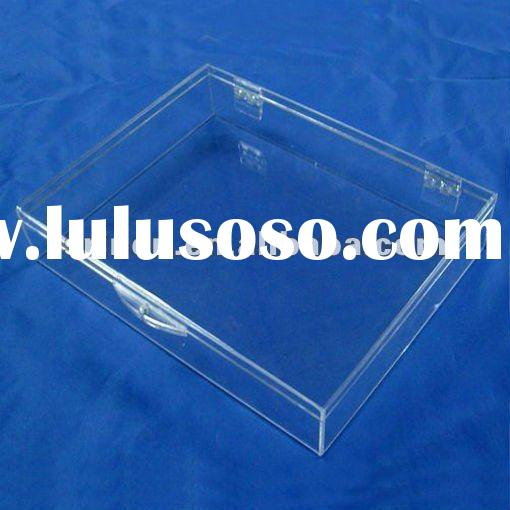 Clear acrylic square serving tray/lucite plexiglass food tray/perspex household tray DA-1008