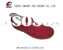 Cow suede lady's casual shoes,comfortable walking shoes,women flat shoes