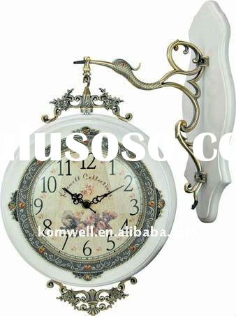 Double sides wall clock, Bird shape hanger