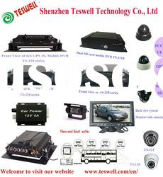 HDD and SD card mobile DVR with 3G and GPS and wifi functions