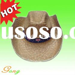 Hot Sale!! 100% Natural Straw hat with logo band