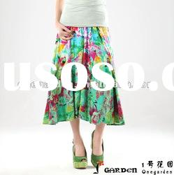New Fashion Ladies Summer Casual Long Skirts
