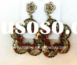 Newest and hot sale 2012 lead nickel free ladies big rose flower stud earrings