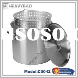 Stainless Steel stock pot with strainer basket
