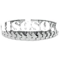 "Tungsten Carbide 10MM Link Men's Bracelet 7"" - 10"""