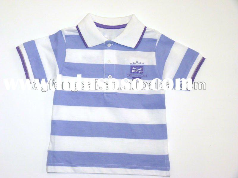 100% cotton short sleeve baby boys polo shirt with embroidery