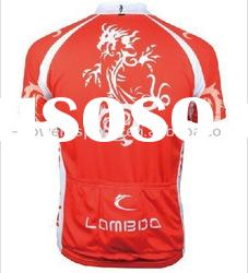 100% polyester fashion red cycling jerseys