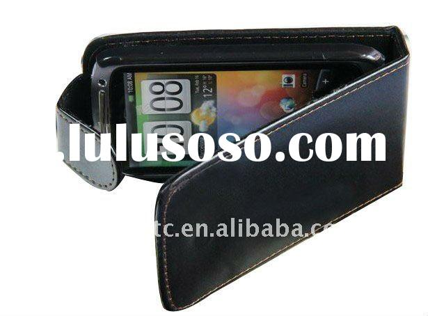 1x Black Leather Pouch Flip Case Cover for HTC Desire S