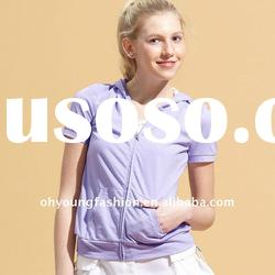 2012 Fashion Europe and America womens cotton short sleeve casual summer hoody clothing