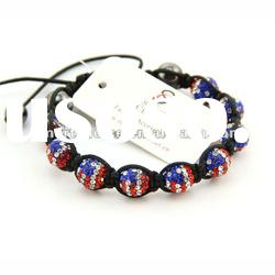 American flag shamballa bracelets wholesale in usa