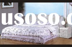 Bed embroidery design bed sheet