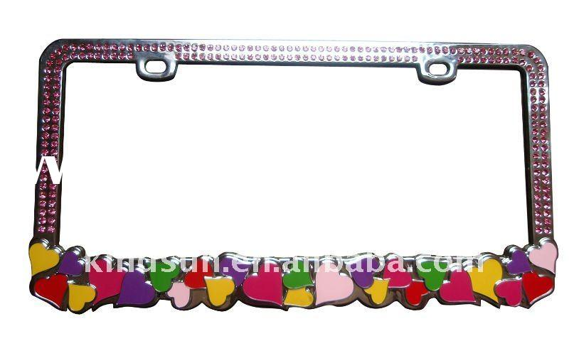 Bling car license plate frame with crystal diamond