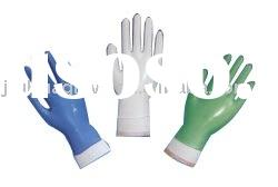 Blue vinyl industry and medical grade disposable gloves