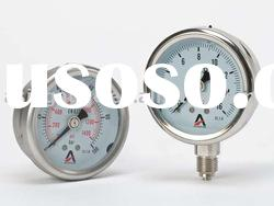 Bourdon Tube Pressure Gauge -- Liquid filled Gauge