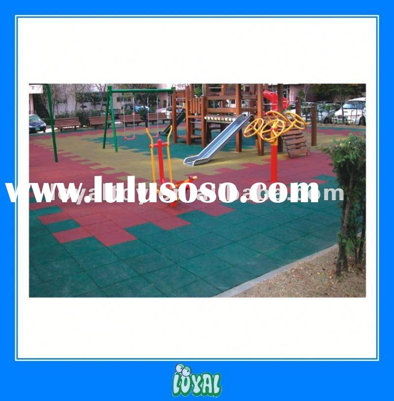 China Produced Cheap rubber outdoor playground mats for sport