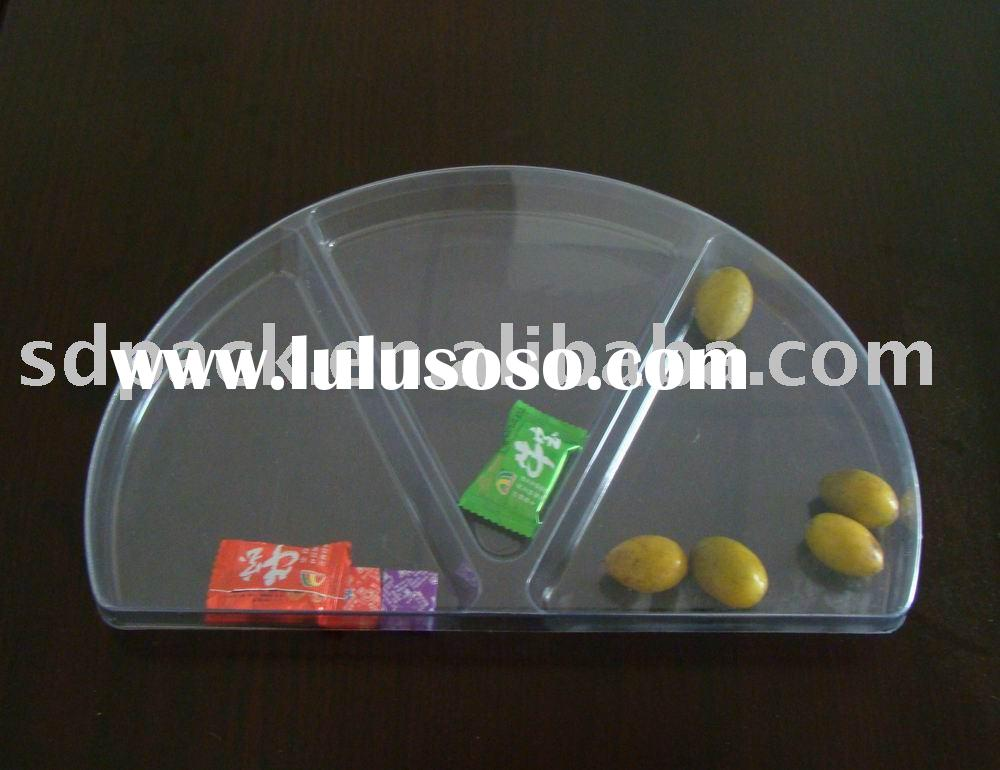 Fan-shaped Candy box,Dried fruit tray,Blister box,plastic packing