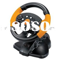 For PS3/PS2/PC 3 in 1 Steering Wheel Controller for PS2 Wired Vibration racing Wheel-- FT33C2