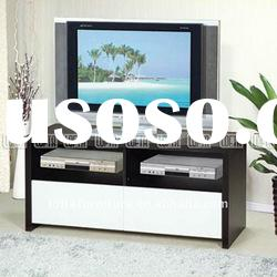 Household furniture Designs LCD tv Stand with drawer storage in white high gloss surface