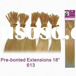 Imported glue prebonded hair extension with various colors and length