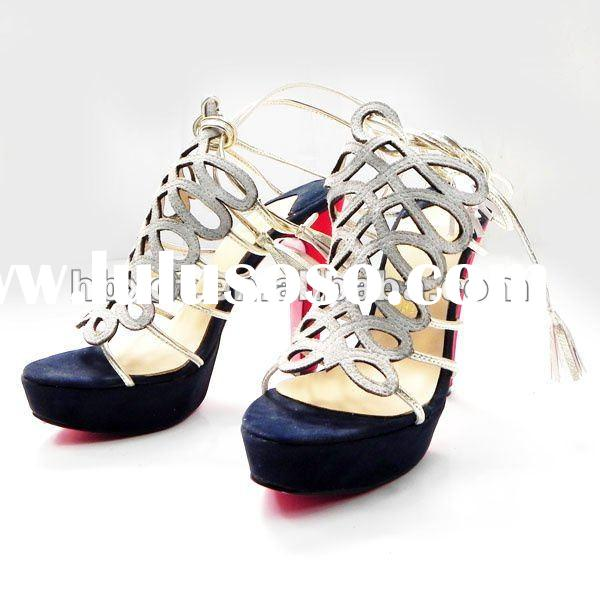 Ladies strappy high heel shoes, fashion lady sandals