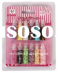 Mixed colors glitter nail art set with cheap prices