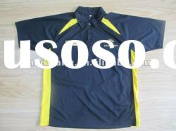 Navy blue with yellow polyester/cotton polo shirt