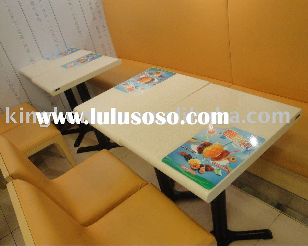 New solid surface dining table/fast-food table for KFC
