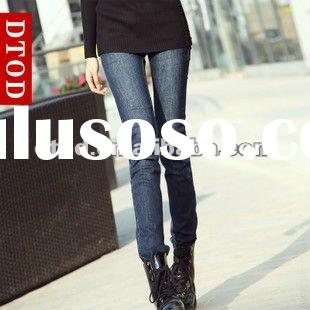 New style lady slim shape stretch skinny jeans