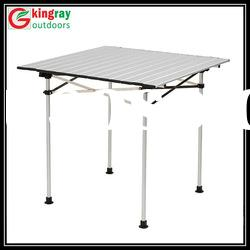 Outdoor foldable aluminum camping table