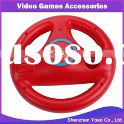 Red Mario Kart Steering Wheel Controller For Wii