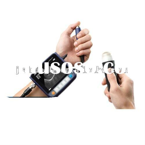 Veterinary use ultrasound scanner on arm