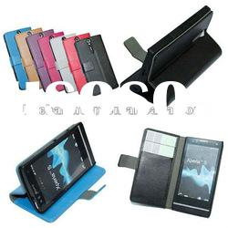 Wallet Leather Case for Sony Ericsson Xperia S LT26i
