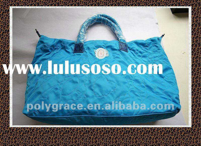 (50 years factory)2012 embroidery nylon ladies tote bag