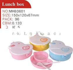 children plastic lunch box set with spoon and fork