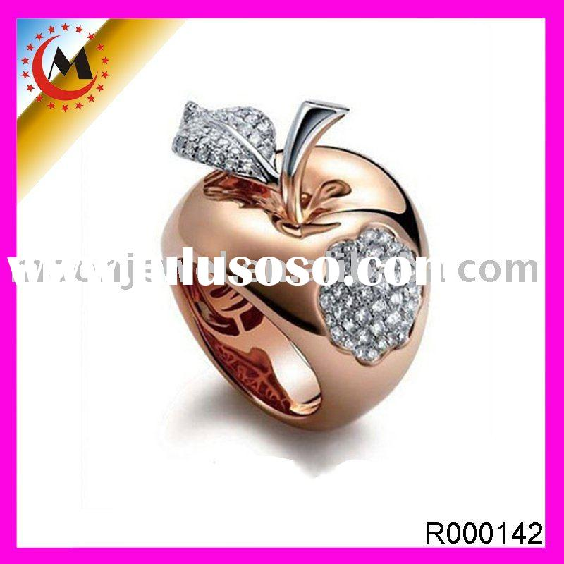fashion jewelry apple ring gold ring